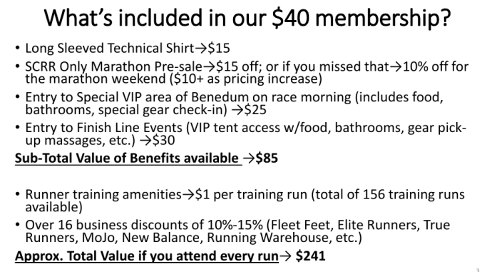 What is supposedly included with your membership