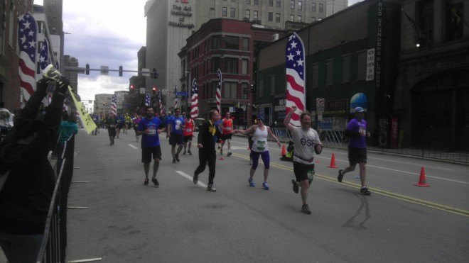Finish of the Pittsburgh Marathon!