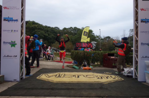 D'Haene finishing strong HK100 (photo irunfar)